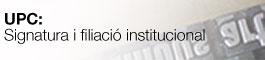 Signatura i filiacio UPC, (obriu en una finestra nova)