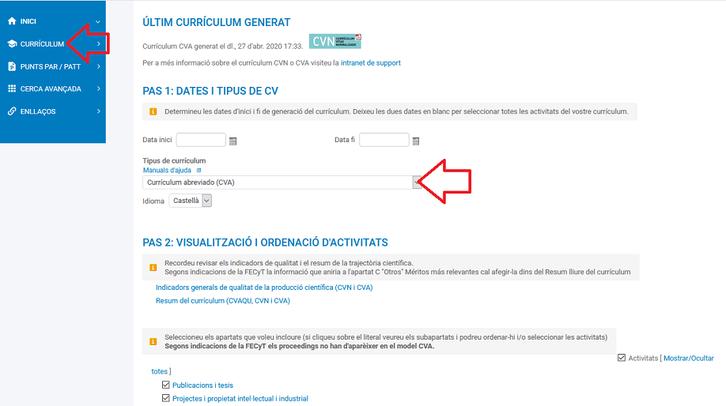 Generar CVA DRAC 3.0